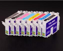 8Colors/Set Refillable Ink Cartridge For Epson Stylus Photo