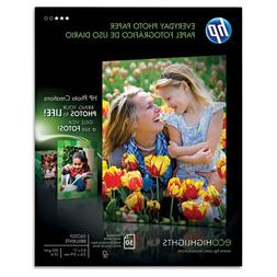 HP Everyday Photo Paper , Glossy, 8-1/2 x 11, 50 Sheets/Pack