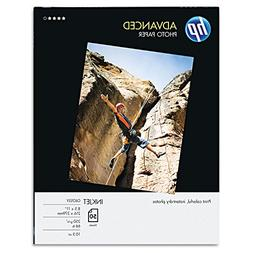 HP Glossy Advanced Photo Paper for Inkjet, 8.5 x 11 Inches,