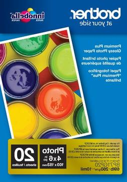 Brother Glossy Inkjet Paper, 4 x 6 Inches, 20 Sheets  - Reta