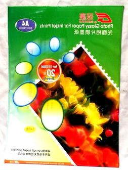HIGH QUALITY Glossy Photo Paper for Inkjet Printer A4 20 She