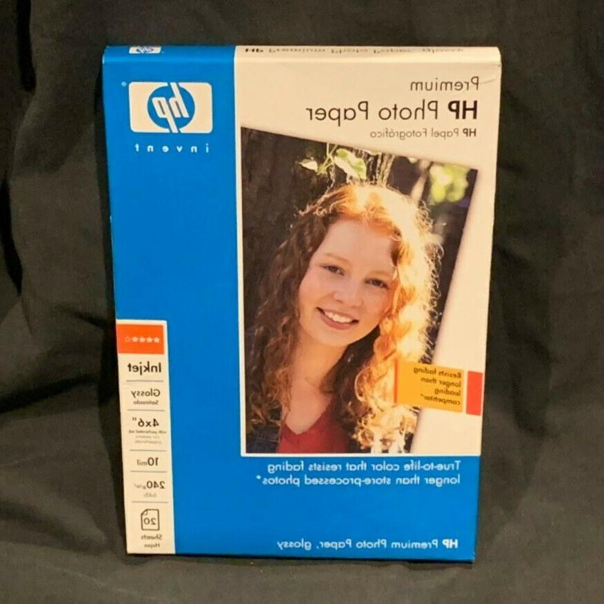 HP Q1988A 4inx6in Premium Photo Glossy Paper for Inkjet Prin