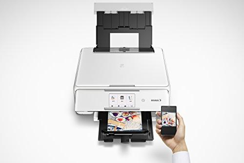 Canon Wireless All-In-One Printer Scanner Copier: Tablet Printing, Google White