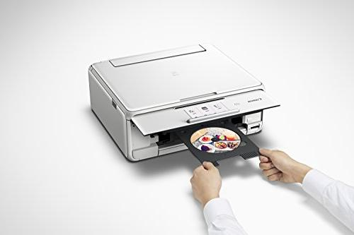Canon Wireless All-In-One Printer Copier: Mobile Tablet Printing, Airprint Google Print White