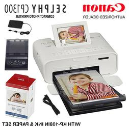 Canon SELPHY CP1300 Compact Photo Printer with KP-108 Ink/Pa