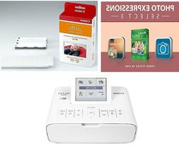 Canon Selphy CP1300 Wireless Photo Printer Bundle Over $300