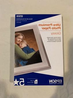 "Epson Ultra-Premium Photo Paper Glossy 5 Star 4"" x 6"" 60 She"
